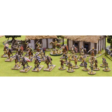Breton Warband Starter - 17 Mounted & 12 foot figures (4 points)