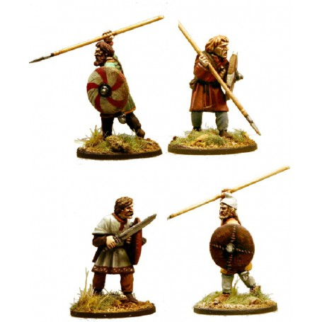 Guerriers Anglo-Danois Ou Anglo-Saxons