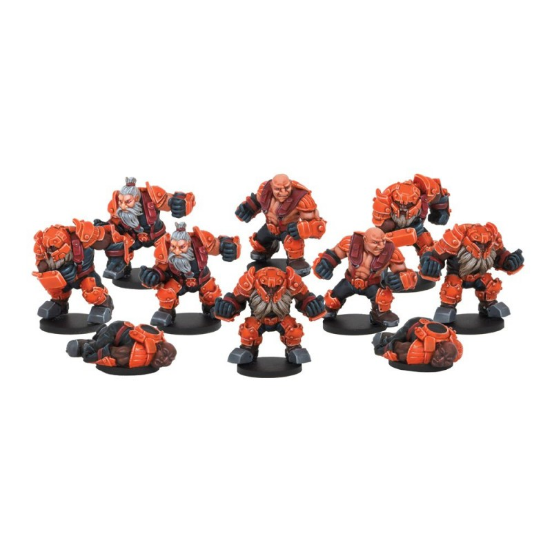 Rotatek Rockslides Brokkr Team (10 FIGURES), Dreadball, par Mantic