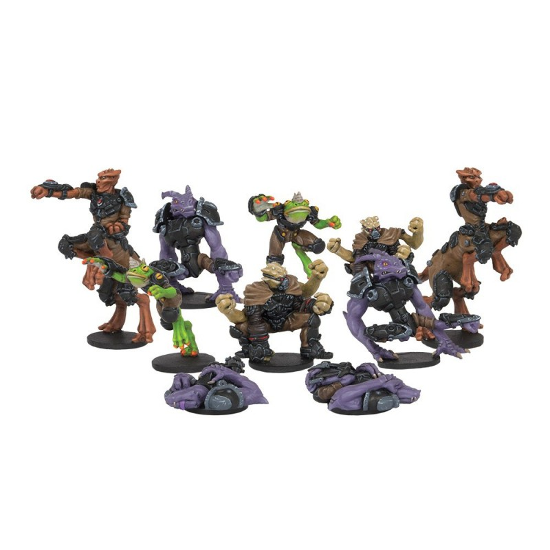 The Unincorporated Rebs Team (10 FIGURES), Dreadball, par Mantic
