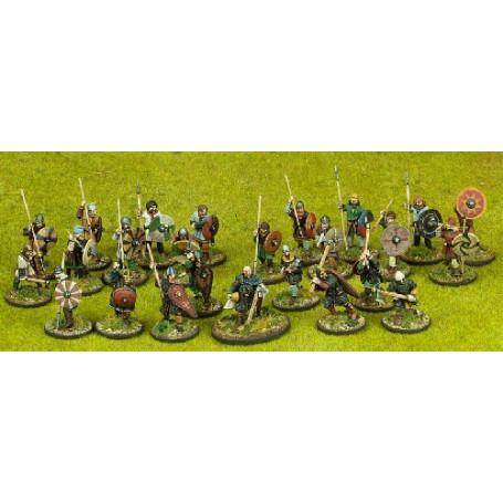 Anglo-Dane Starter Warband - 25 foot figures (4 points)