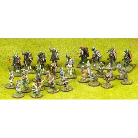 Norman Starter Warband - 9 Mounted & 20 foot figures (4 points)