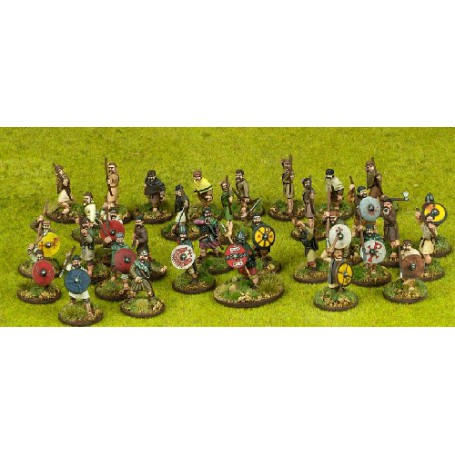 Welsh Starter Warband - 33 foot figures (4 points)