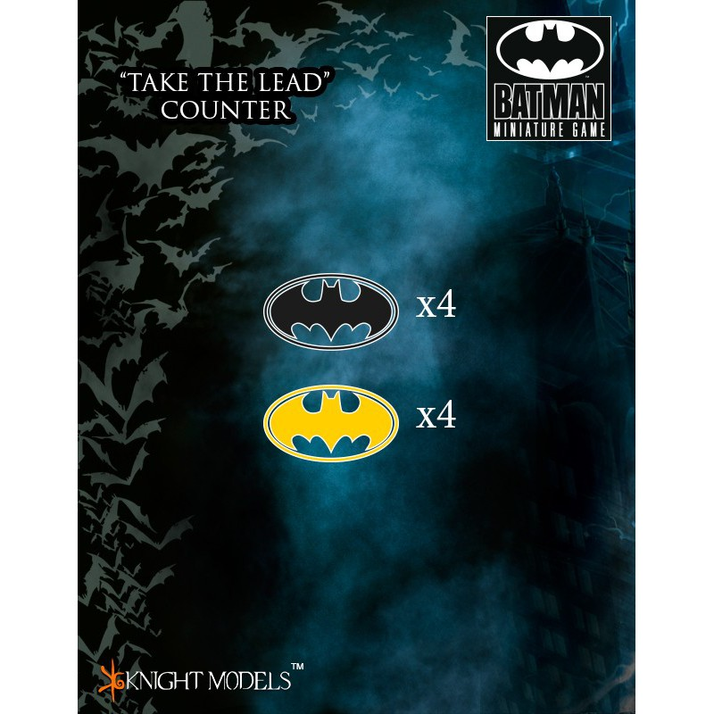 """Take The Lead"" Counters, Batman The Miniature Games, par Knight Models"