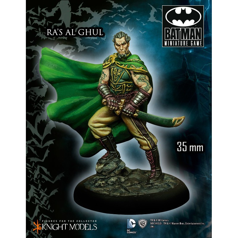 Ras Al Ghul, Arkham city, Batman The Miniature Games, par Knight Models