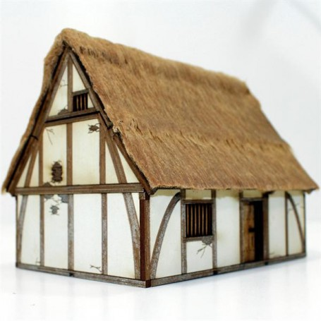 High Medieval Painted Cottage, pour Saga, l'age des vikings, par 4Ground