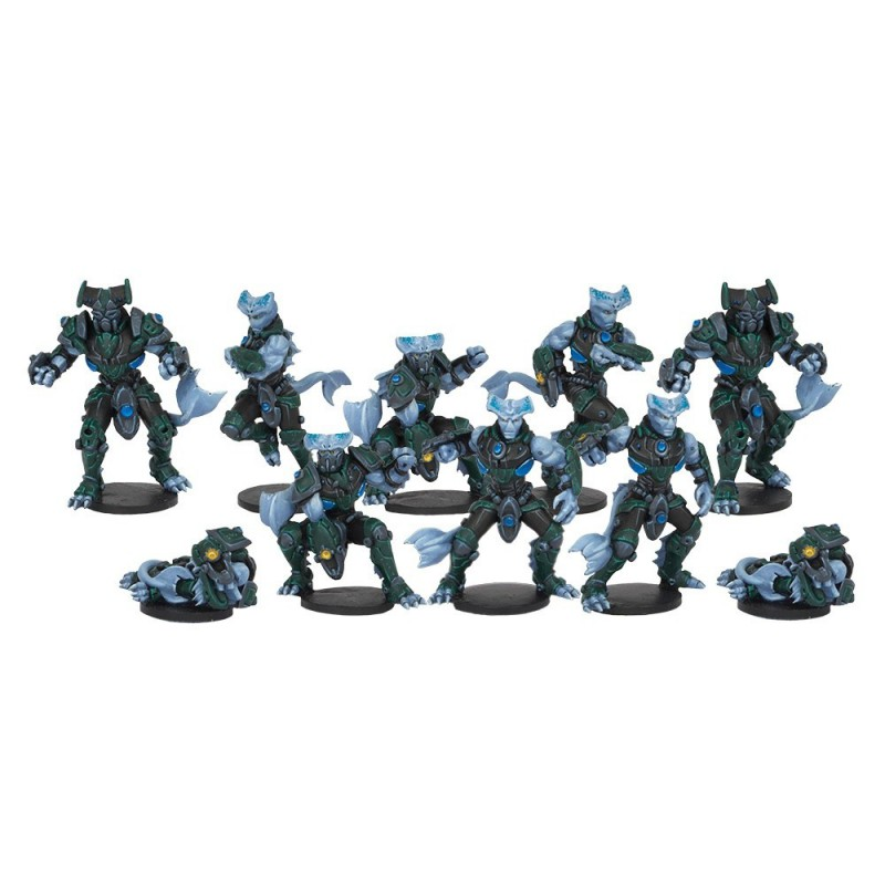 Nemion Oceanics - Sphyr Team (10 Figures), Dreadball, par Mantic