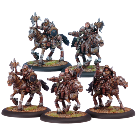 Steelhead Heavy Cavalry par 5, Mercenaires, Warmachine, par Victoria Games