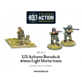 US Airborne Bazooka & 60mm light mortar team