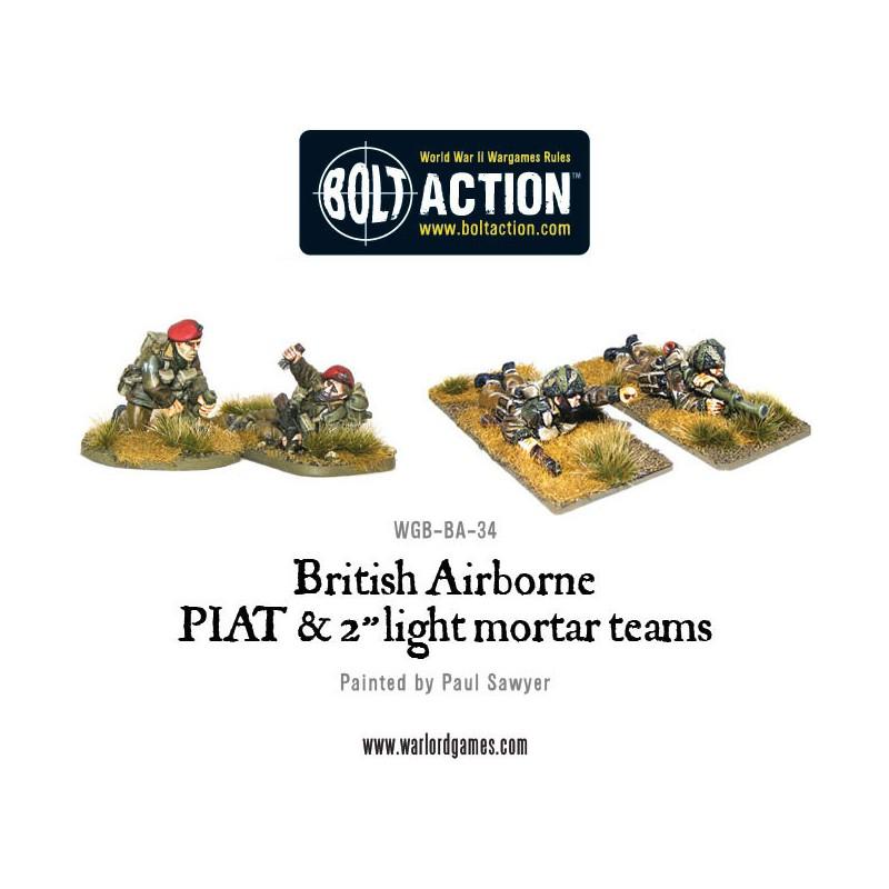 British Airborne PIAT and Light Mortar team