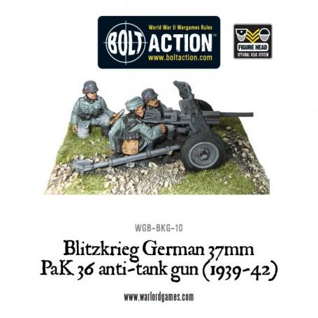Blitzkreig German 37mm PaK36 anti-tank gun