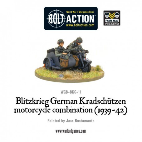 Blitzkreig German Kradschutzen Motorcycle Combination