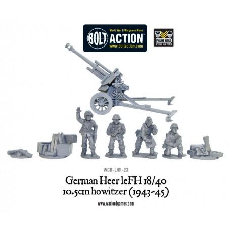 Late War German 105mm Gun & Crew