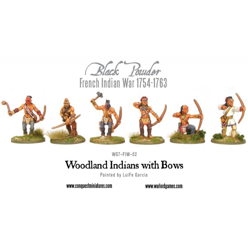 French Indian War - Woodland Indians with Bows
