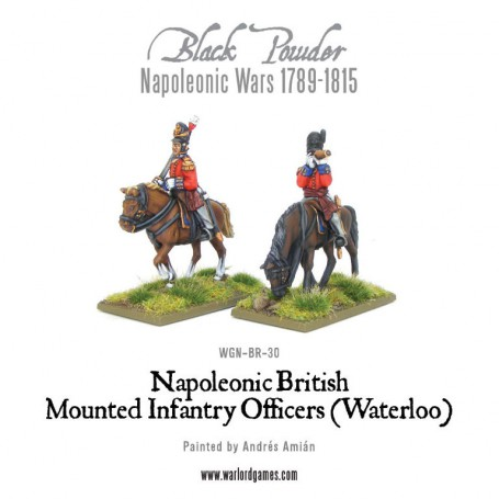 Mounted British Infantry Colonels (Waterloo)