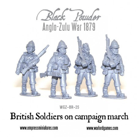 British Soldiers on Campaign Marching