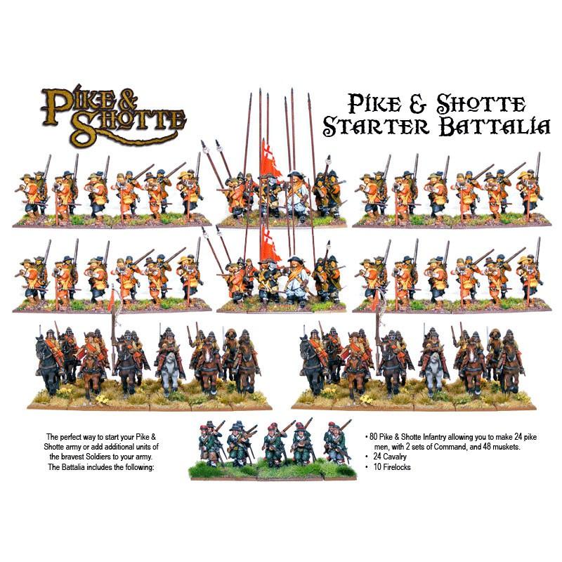 P&S Battalia Starter Army Box (80 Inf, 24 Cav, 10 Firelocks)