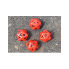 X4 D20 Dice Pack (Red and Black)