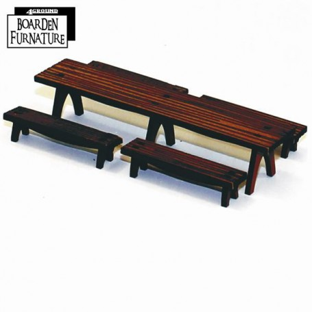 Long Trestle Table x1, Long Benches x4