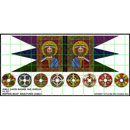 Anglo Saxon banner and shields