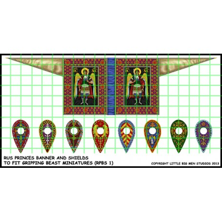 RUS PRINCES BANNER AND SHIELDS RPBS1