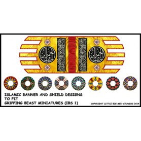 Islamic Saga banner and shields