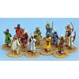 Mujahid avec arcs, Saga, le croissant et la croix