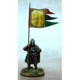 Bannière de Guerre Anglo-Danoise (une figurine et sa bannière)