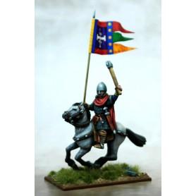 Bannière de Guerre Normande (un cavalier et sa bannière)