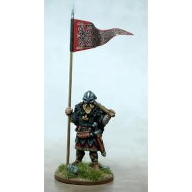 Bannière de Guerre Viking (une figurine et sa bannière)