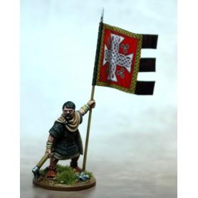 Bannière de Guerre Galloise (une figurine et sa bannière)