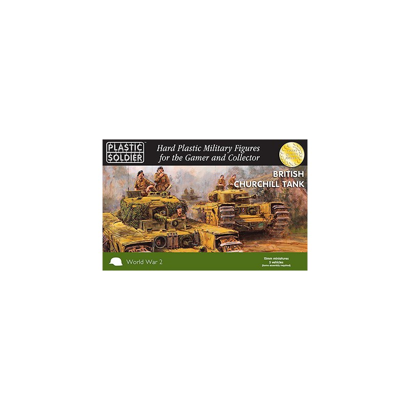 15Mm Ww2 British Churchill Tank, Plastic Soldier