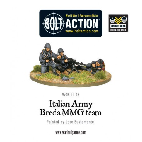 Italian Army Breda medium machine gun team