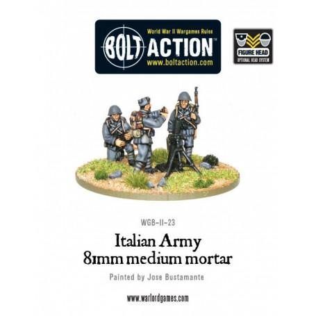 Italian Army medium mortar team