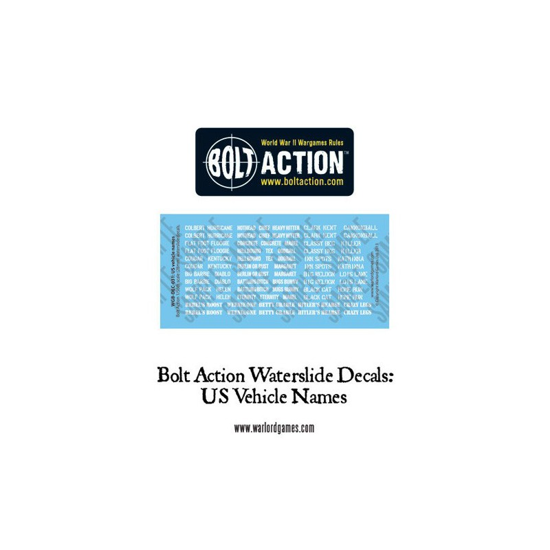 Bolt Action US Vehicle Decals