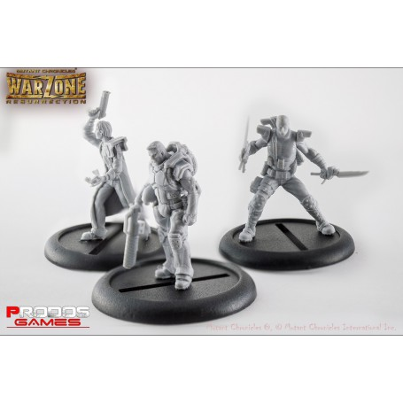 Mutant Chronicles RPG Models Capitol set