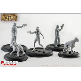 Mutant Chronicles RPG Models Corporate Agents set