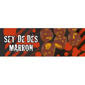 Zombicide : Set de Dés marron