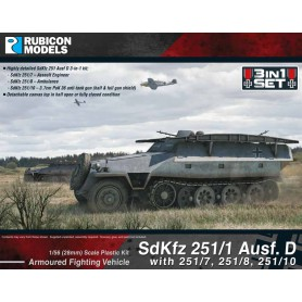 Sdkfz 251 Halftrack 3 in 1