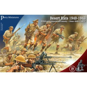 Desert Rats 1940-43, Britanniques, Bolt Action par Perry Miniatures
