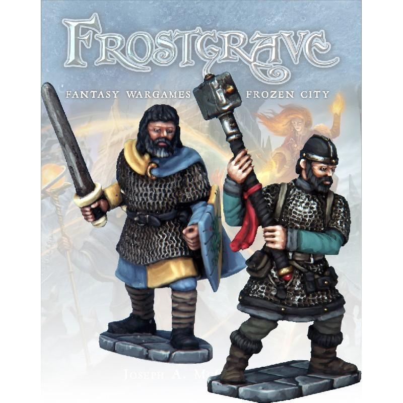 Chevalier et Templier, pour Frostgrave, de Osprey Games, par Northstar