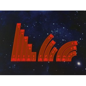 Space Fighter Move Templates Orange, pour X-Wing, par Micro Art Studio