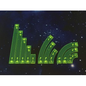 Space Fighter Move Templates Green