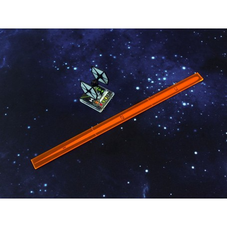 Space Fighter Range Ruler Orange