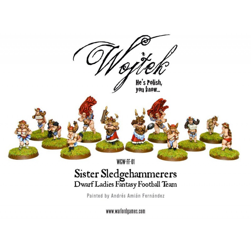 SISTER SLEDGEHAMMERERS, Blood Bowl, par Warlord Games