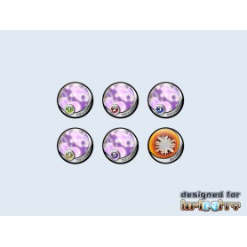 "Infinity Tokens TOCamo ""Purple"" (6), par Micro Art Studio"