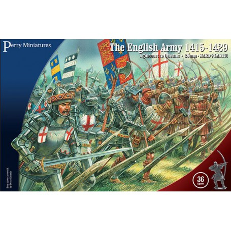 English Army 1415-1429 (36 figures) , Guerre de 100 ans par Perry Miniatures