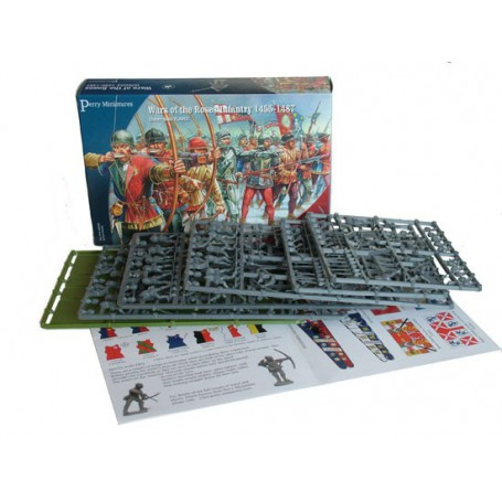 Plastic Wars of the Roses Infantry 1450-1500 (40 figurines), Guerre de 100 ans par Perry Miniatures