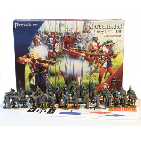 Mercenaries European Infantry 1450-1500 (40 figurines)