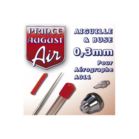 Aiguille & Buse 0,3 pour aérographe A011
